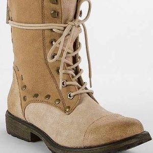 Roxy Combat Army Military Boots 6.5 Grunge Lace
